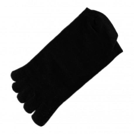 Pack de 2 Paires Chaussettes à doigts Mixte Noir T.U.
