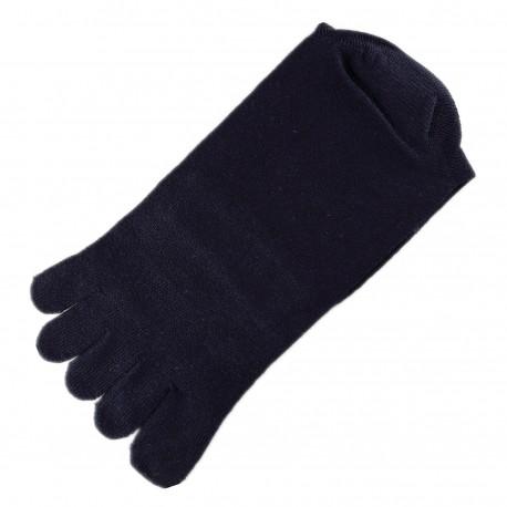Pack de 2 Paires Chaussettes à doigts Mixte Bleu foncé T.U.