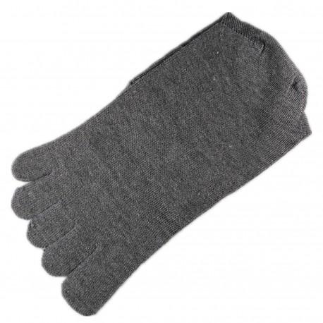 Pack de 2 Paires Chaussettes à doigts Mixte Gris T.U.