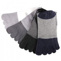 Pack de 4 Paires Chaussettes à doigts Assorties T.U.