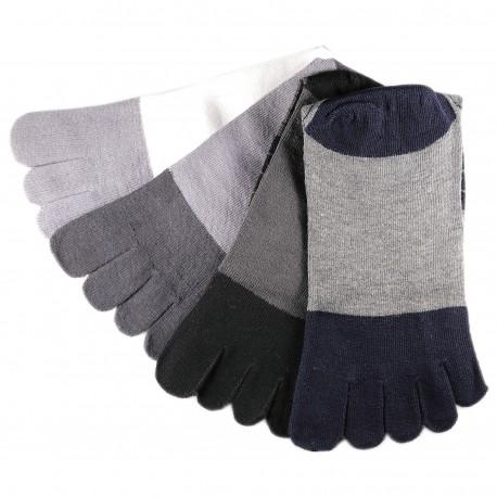Pack de 4 Paires Chaussettes à doigts Assortis T.U.