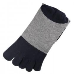 Pack de 2 Paires Chaussettes à doigts Bleu T.U.