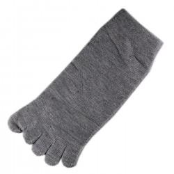 Pack de 2 Paires Socquettes à doigts Gris T.U.