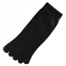 Pack de 2 Paires Socquettes à doigts Noir T.U.