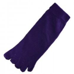 Pack de 2 Paires Socquettes à doigts Violet T.U.