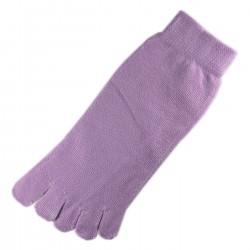 Pack de 2 Paires Socquettes à doigts Mauve T.U.