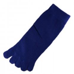 Socquettes à doigts Bleu T.U.
