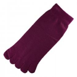 Socquettes à doigts Magenta foncé T.U.