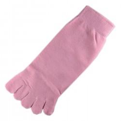 Socquettes à doigts Rose dragée T.U.