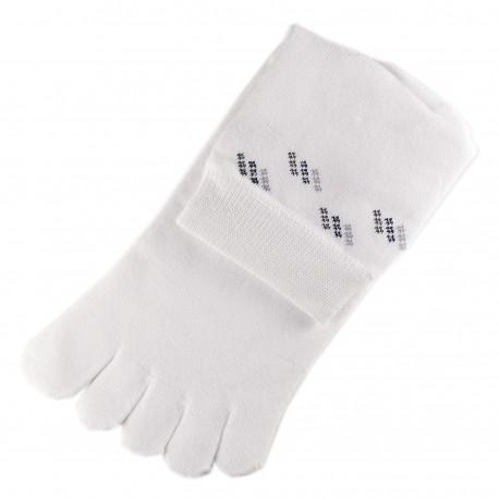 Pack de 2 Paires Chaussettes à doigts Blanc T.U.