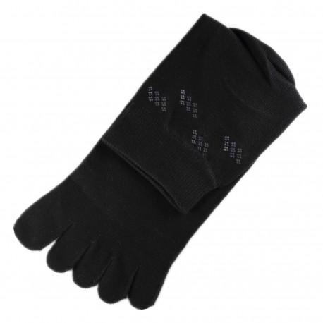 Pack de 2 Paires Chaussettes à doigts Noir T.U.