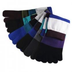 Pack de 6 Paires Chaussettes à doigts Assorties T.U.