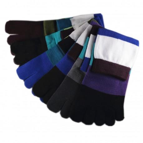 Pack de 5 Paires Chaussettes à doigts Assortis T.U.