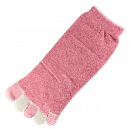 Pack de 2 Paires Socquettes à doigts Rose T.U.
