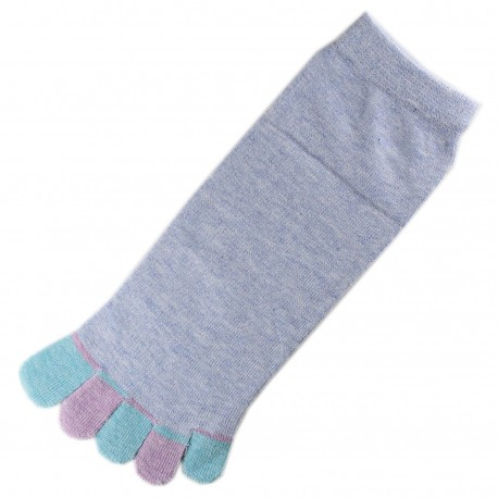 Pack de 2 Paires Socquettes à doigts Bleu dragée T.U.
