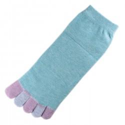 Pack de 2 Paires Socquettes à doigts Bleu T.U.