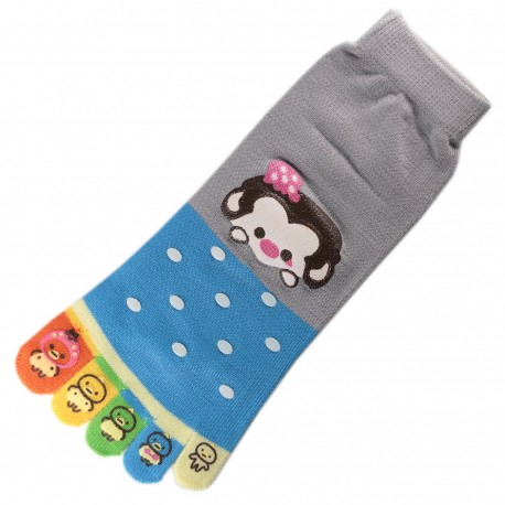 Pack de 2 Paires Socquettes à doigts GUENON Monkey T.U.