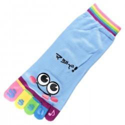 Pack de 2 Paires Socquettes à doigts SMILES Bleu T.U.