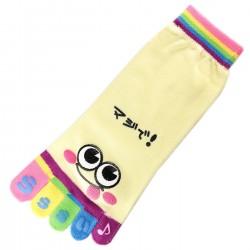 Socquettes à doigts SMILES Jaune T.U.