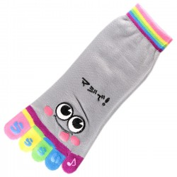 Socquettes à doigts SMILES Gris T.U.