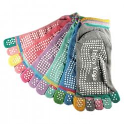 Pack de 6 Paires Socquettes à doigts Enjoy Yoga Assorties T.U.