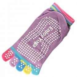 Pack de 2 Paires Socquettes à doigts Enjoy Yoga Mauve T.U.