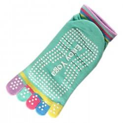 Pack de 2 Paires Socquettes à doigts Enjoy Yoga Vert T.U.
