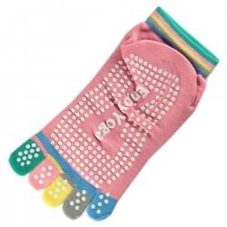 Socquettes à doigts Enjoy Yoga Rose dragée T.U.