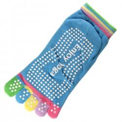 Socquettes à doigts Enjoy Yoga bleu T.U.