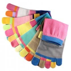 Pack de 6 Paires Socquettes à doigts Assorties T.U.