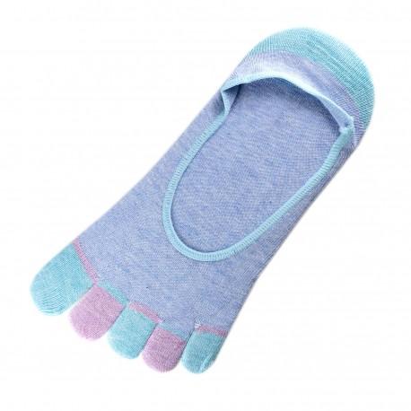 Pack de 2 Paires Socquettes INVISIBLE à doigts Bleu T.U.