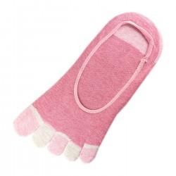 Socquettes INVISIBLE à doigts Rose T.U.
