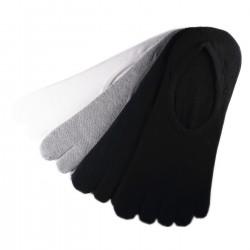 Pack de 4 Paires Socquettes INVISIBLE à doigts Assorties T.U.