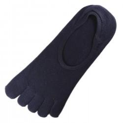 Pack de 2 Paires Socquettes INVISIBLE à doigts Bleu foncé T.U.