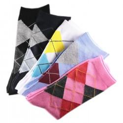 Pack de 5 Paires Assorties Chaussettes Coton Ecossais Noir
