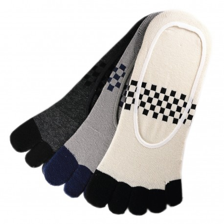 Pack de 5 Paires Socquettes INVISIBLE à doigts Assorties T.U.