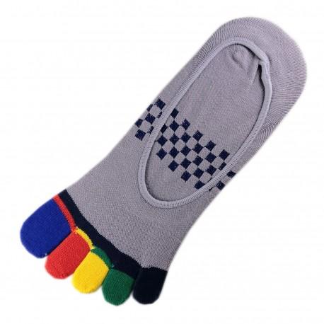 Socquettes INVISIBLE à doigts Gris T.U.