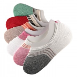 Pack de 6 Paires Socquettes Invisible Assorties Anti-dérapant T.U.