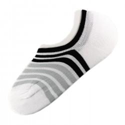 Pack de 12 Paires Socquettes Invisible Anti-dérapant Blanc T.U.