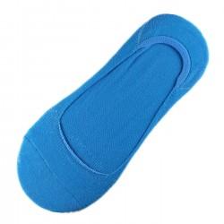 Pack de 12 Paires Socquettes Invisible Anti-dérapant Bleu T.U.