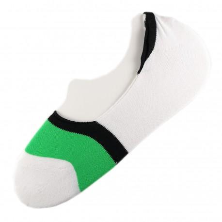Pack de 2 Paires Socquettes Invisible Anti-dérapant T.U.