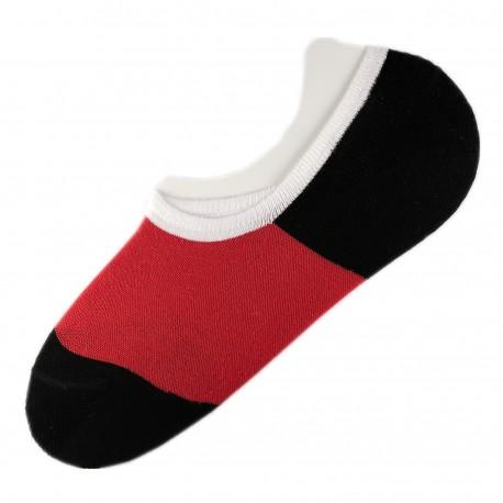 Pack de 2 Paires Socquettes Invisible Anti-dérapant Rouge T.U.