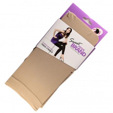 Legging Opaque Coloré 60DEN Beige Color Block