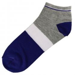 Pack de 3 Paires Socquettes Coton Tricolore Mixte T.U. Bleu
