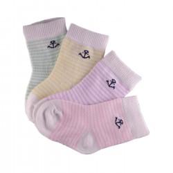 Pack de 4 Paires Chaussettes Bébé