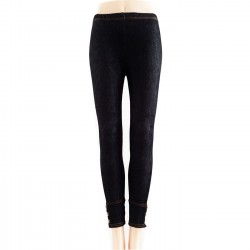 Leggings Style JEANS NOIR BOUTONS