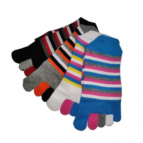 Pack de 4 Paires Chaussettes à doigts Assorties T.U. Mixte